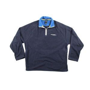 Vintage 90s Nautica Mens M Half Zip Fleece Sweater